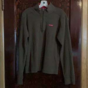 MENS Abercrombie army green 1/4 zip pullover